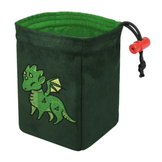 Cute Dragon Embroidered Dice Bag