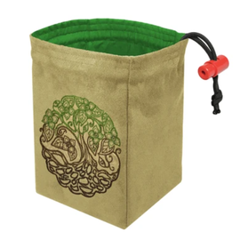 Red King Co Twisted Tree Embroidered Dice Bag