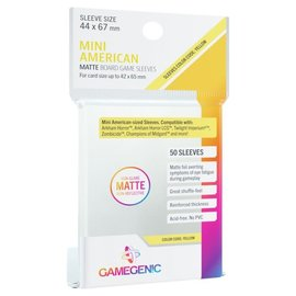 Fantasy Flight Games Prime Sleeves Mini American Matte (50) Yellow