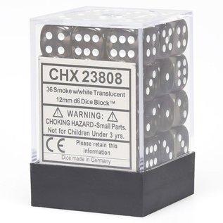 Smoke Translucent 12mm D6 Block (36)