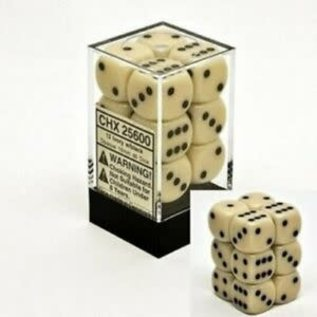 Ivory Black Opaque 16mm D6 Block (12)