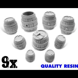 Green Stuff World Resin Wooden Barrels