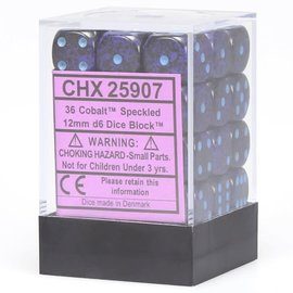 Cobalt 12mm D6 Dice Block (36)
