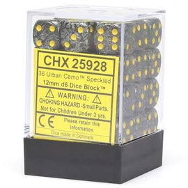 Urban Camo Speckled 12mm D6 Dice Block (36)