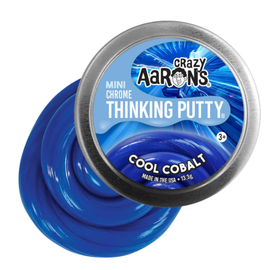 Crazy Aaron's Thinking Putty Cool Cobalt Thinking Putty