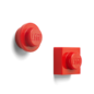 LEGO 4010 LEGO Magnet Set Round & Square - Bright Red