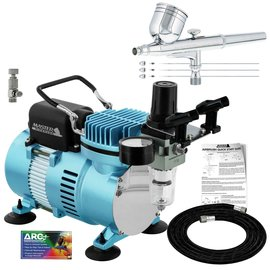 Master Airbrush Air Compressor and Gravity Feed Airbrush