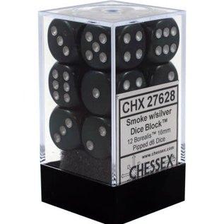 Smoke Silver Borealis 16mm D6 Block (12)