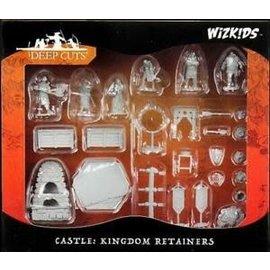 WizKids Deep Cuts Unpainted Miniatures: W12 Castle - Kingdom Retainers