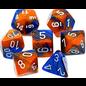 Blue Orange White Gemini Dice Set