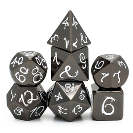 Goblin Dice Obsidian Dragon Metal Dice