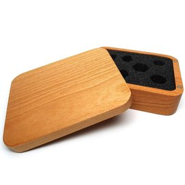 Easy Roller Dice Wooden Dice Case Cherry