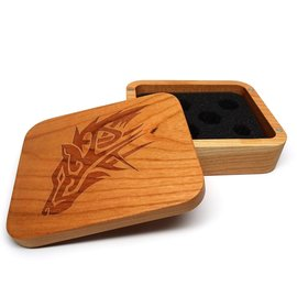 Easy Roller Dice Wooden Dice Case Cherry Wolf