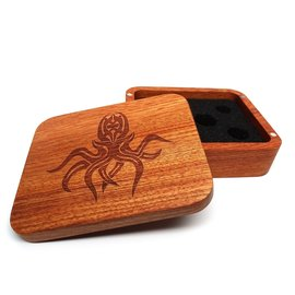 Easy Roller Dice Wooden Dice Case Rosewood Cthulhu
