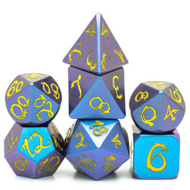 Goblin Dice Shimmering Blue Metal Dice