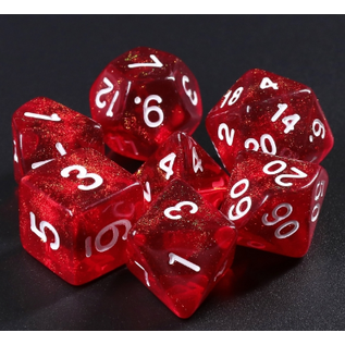Goblin Dice Candy Apple Red Dice Set