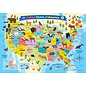 Eurographics Illustrated Map of the United States of America