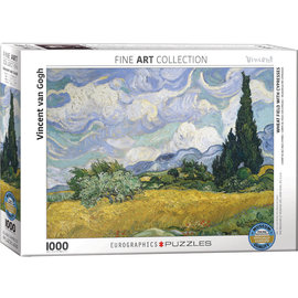Eurographics Wheat Field With Cypresses - Van Gogh