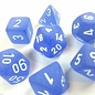 Blue White Frosted Dice Set