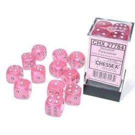 Pink Silver Luminary 16mm D6 Block (12)