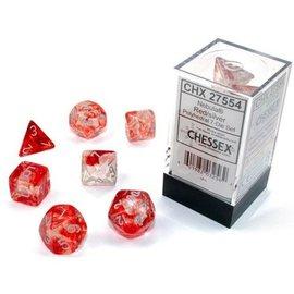 Red Silver Nebula Dice Set