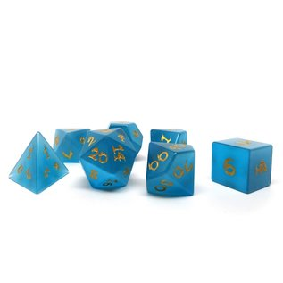 Blue Cats Eye Stone Dice - Dragon Font