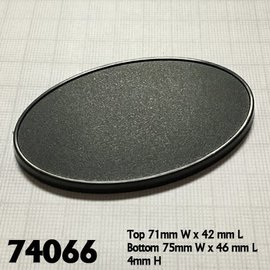 75mm x 46mm Oval Gaming Base (10)