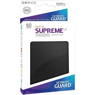 Ultimate Guard Supreme UX Matte Black Sleeves 60ct (Small)