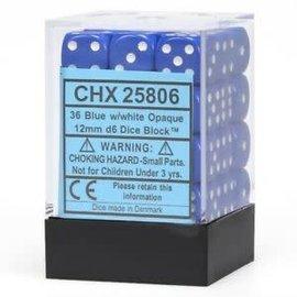 Blue Opaque 12mm D6 Block (36)