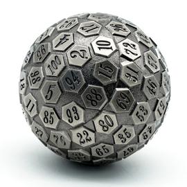 Goblin Dice Silver Metal D100