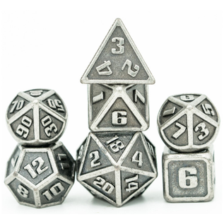 Goblin Dice Mini Silver Metal Dice