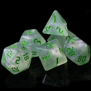 Goblin Dice Green Opal Dice Set