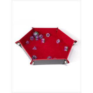 Goblin Dice Red Hex Folding Dice Tray