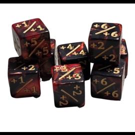 Goblin Dice Bloodstone D6 Counter +1/+1 Plus Dice (8 Count)