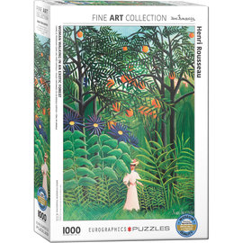 Eurographics Woman in an Exotic Forest - Rousseau