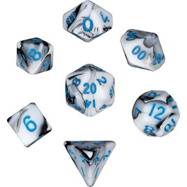 Marble Blue Mini Dice Set
