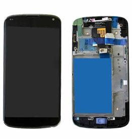 LG LCD DIGITIZER ASSEMBLY WHITH FRAME LG NEXUS 4