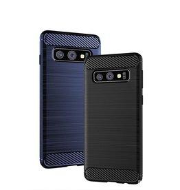 Samsung ÉTUI SAMSUNG S10E CARBON/BRUSHED GEL SKIN NOIR