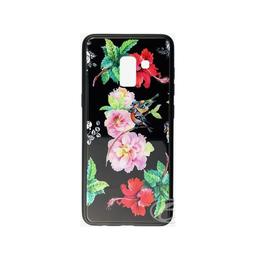 Samsung ÉTUI SAMSUNG A8 2018 Flowers birds glaze