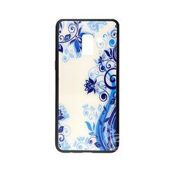 Samsung ÉTUI SAMSUNG A8 2018 Blue Flowers glaze