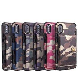 Apple ÉTUI IPHONE 6 / 7 / 8 Camouflage Military Leather