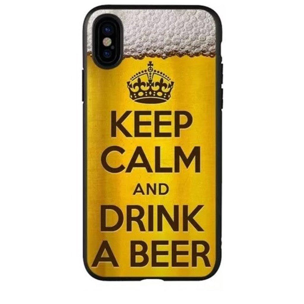 Apple ÉTUI IPHONE X / XS Keep calm anf drink beer