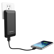 Banque de batterie portative - myCharge - Executive Wall Prongs 4000 mAh Carbon (Black)