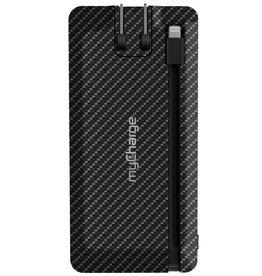 Banque de batterie portative - myCharge - Executive Wall Prongs 4000 mAh Carbon (Black)