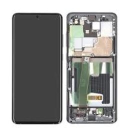 Samsung LCD DIGITIZER ASSEMBLY WITH FRAME GRAY S20 ULTRA