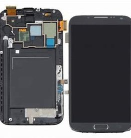 Samsung USAGÉ / USED LCD DIGITIZER ASSEMBLY WITH FRAME WHITE SAMSUNG GALAXY NOTE 2