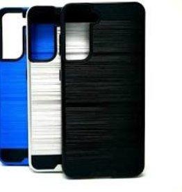 Samsung Samsung Galaxy S21 - Slim Sleek Brush Metal Case