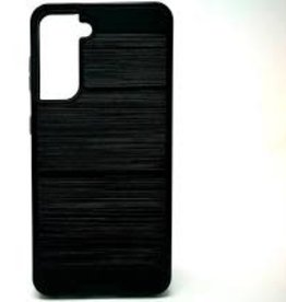 Samsung Samsung Galaxy S21 ULTRA - Slim Sleek Brush Metal Case