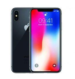 Apple IPHONE X noir 256GB déverrouillé *fissure arrière*