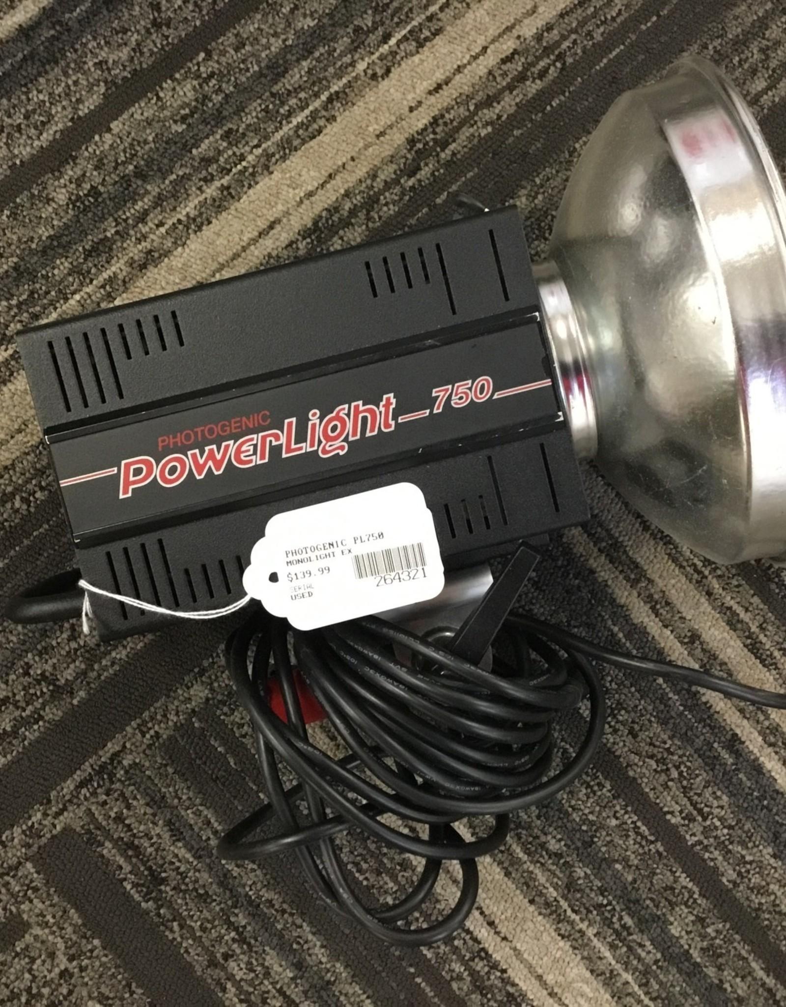Photogenic PL750 monolight used ex
